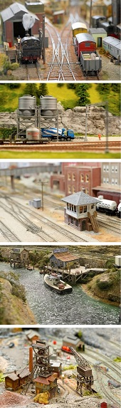 photos of model railroads